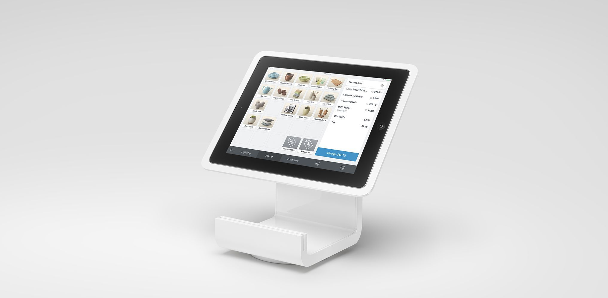 """Square Stand for iPad 2018 iPad Pro 9.7/"""" /& iPad Air with Contactless Chip Reader"""