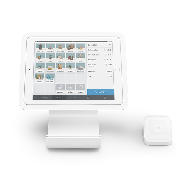 A-SKU-0273 NEW Square Stand for Contactless Chip with Reader and Dock